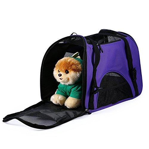 Dog Carrier Bag Pet Travel Portable Bag Dog Cat Travel Carrier Cage, Airline Approved Soft Sided Pet Carrier /Nine color choices Car Seat Travel Bag Wheels