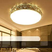 18W LED Blanco Cálido Moderno Lámpara De Techo Lámpara De Techo Pasillo Salón Cocina Dormitorio De La Lámpara Ahorro De Energía De Luz De Plata Ø32cm*H10cm