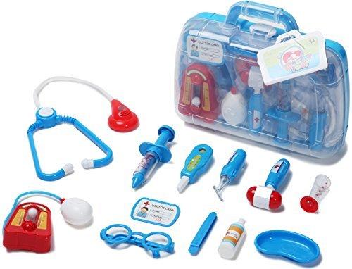 Deceny CB Doktor Spielzeug mit Arztköfferchen für Kinder Arztkoffer Spielzeug Arzt Kinder Arzt Spielzeug für Kinder Pretend Play Kinder (Baby Play Brille)