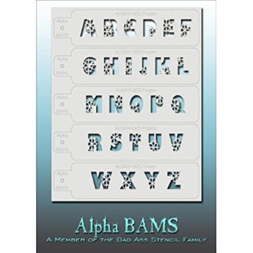 Bad Ass Stencils gefroren alpha Schablone (Halloween Gefrorenen Make-up)