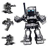2.4G Somatosensory Fernbedienung Kampf Kinder Roboter Spielzeug Wettbewerbs Kampf Roboter Modell Intelligente Fernbedienung Roboter Spielzeug Wandern Schießen Licht Sound Aktion Spielzeug Schwarz