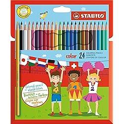 STABILO Color - Lápiz de color escolar - Estuche de 24 colores