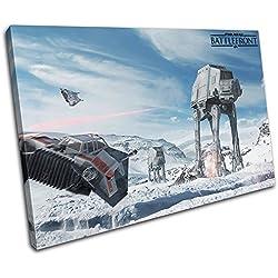 Bold Bloc Design - Star Wars Battlefront Gaming 60x40cm Single Boite de tirage d'art Toile encadree Photo Wall Hanging - Pret a accrocher - Canvas Art Print