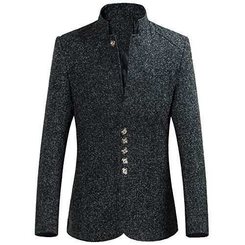Homebaby Giacca Da Uomo Fashion Slim Fit Blazer Casual da Uomo Stand Collare Pullover Maglione Caldo Cappotto Manica Lunga Camicia Elegante Maglia