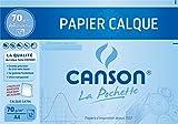 Canson Pochette Papier calque satiné 12 feuilles 70 g A4 Translucide...