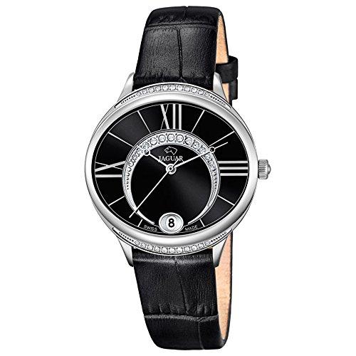 JAGUAR donna-orologio Fashion analog in pelle-braccialetto nero al-orologio quadrante madreperla-colore UJ801/3