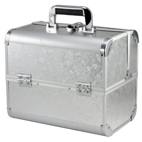 Alu Kosmetikkoffer Friseurkoffer Schminkkoffer Schmuckkoffer Beauty Case Silber (silber)