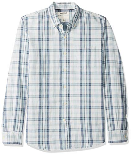 Long-Sleeve Doubleface button-down-shirts, Light Blue Plaid, US (EU XS) ()