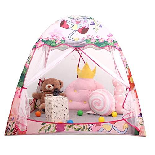HLWAWA Kinderspielzelt Castle Großes Tipi-Zelt für Kinder mit Matte Tragbares Spielhaus Kinderhaus Fort Indoor Outdoor-Einsatz mit Tragetasche für Jungen und Mädchen (Tipi-zelte Für Den Outdoor-einsatz)