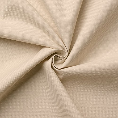 Carry - toile - imperméable - Tissu - 100% polyester - vendu au mètre (beige)