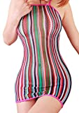 FasiCat Lingerie Mini Dress Fancy Women Chemise Negligee Stretch for Topshop Popular Fashion Rainbow