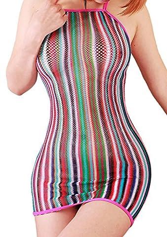 FasiCat Lingerie Mini Dress Fancy Women Chemise Negligrees Stretch for Topshop Popular Fashion Rainbow