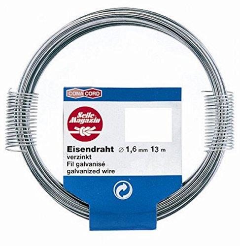 13m filo di ferro in acciaio zincato, Ø 1,6mm