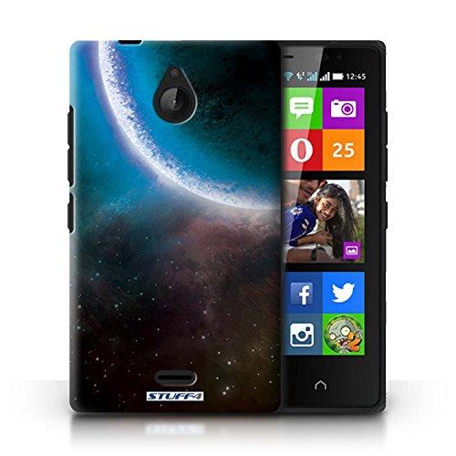 Kobalt® Imprimé Etui / Coque pour Nokia X2 Dual Sim / Nébuleuse Verte conception / Série Cosmos Éclipse Bleu