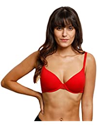 Zivame Lightly Padded Underwired Bra- Bright Red