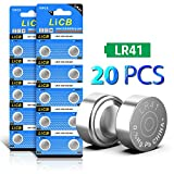 LiCB 20 PCS LR41 AG3 392 192 SR41SW Battery 1.5V Button Coin Cell Batteries