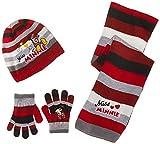 Sciarpa, Berretto e guanti bambino ragazza Miss Minnie Rosa e Rosso di 3a 9anni rosso Rayé rouge/gris 52 (3-6 ans)