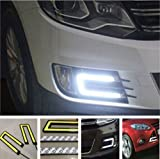 #9: Motoway - 2X Car U Shape COB Led Daytime Running Driving Lights Lamp DRL Light For Maruti Suzuki Ertiga
