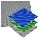 Katara - Lot de 4 Grandes Plaques de Construction Lego - Base pour Jeu de Construction Compatible avec Lego / Q-Briques / Asmodee / Sluban - 1 X Plaque Géante / 3 X Plaques Grandes - Couleurs au Choix