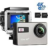 [Caméra Sport 4K Wifi] VTIN Caméscope Sportive UHD avec Capteur Sony IMX117 Exmor R Caméra d'Action 20MP Étanche Sous-Marin 30m et 2 Batterie Incluses