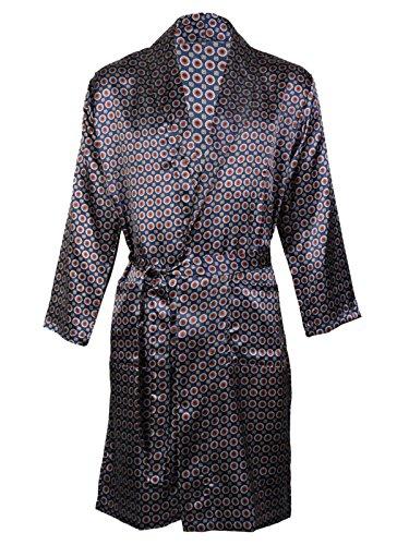 Herren-Satin-Bademantel, Nachthemd Gr. XL, Navy Gown