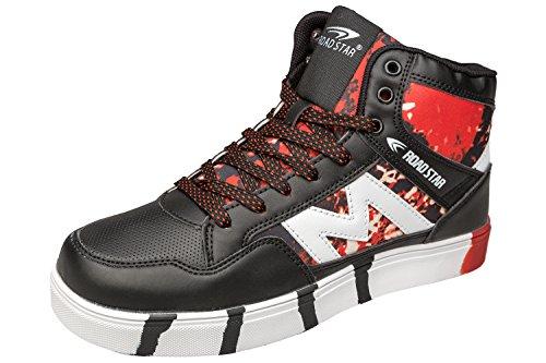 Gibra Men Sneaker Scarpe Sportive, Art. 4037, Alto Alla Caviglia, Nero / Rosso, 41-46 Nero / Rosso