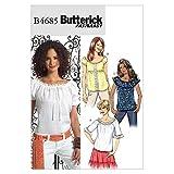 Butterick 4685 FF - Patrón de costura para confeccionar blusas de mujer (3 modelos diferentes, tallas 16 a 22 ó 42 a 48)