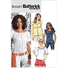 Butterick 4685 BB - Patrón de costura para confeccionar blusas de mujer (3 modelos,