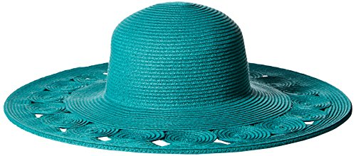 san-diego-hat-company-womens-sun-brim-hat-with-open-weave-brim-edge-teal-one-size