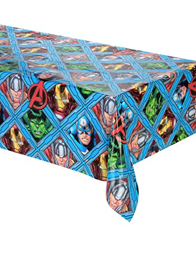 Procos Kunststoff-Tischdecke 120 x 180 cm Avengers Mighty, mehrfarbig, 5PR87968 (Marvels Avengers Party Supplies)