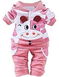 Covermason Bebé Unisex Lindo Vaca Impresión Sudaderas con capucha y Pantalones (2PCS/1 Conjunto)