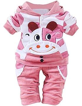 [Patrocinado]Covermason Bebé Unisex Lindo Vaca Impresión Sudaderas con capucha y Pantalones (2PCS/1 Conjunto)