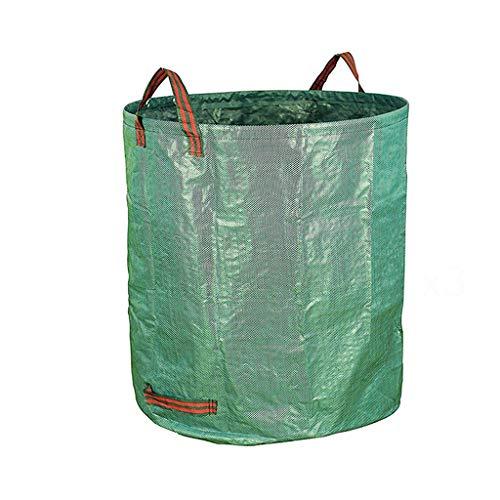 67 * 76 cm Garten Müllsack, Gartenarbeit Grün Hohe Kapazität Multifunktions Garten Park Straße Patio Laubbeutel (Farbe : Green)