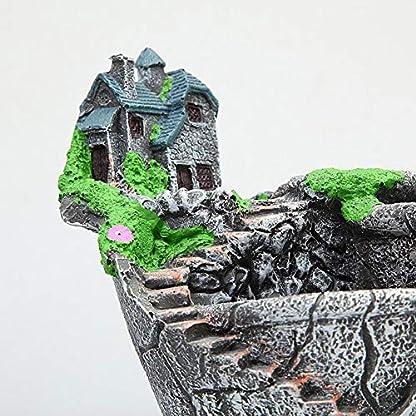 YAOHM Maceta de Plantas Creativas Decorada con Mini Jardín de Hadas y casa Dulce para Decoración de Vacaciones y Regalo,8