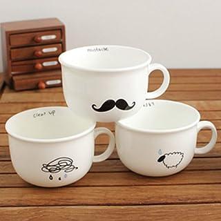 Aliciashouse Small Raindrops Sheep Beard Bird Ceramic Coffee Cup -bird