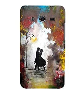Samsung Galaxy Core 2 G355H :: Samsung Galaxy Core Ii :: Samsung Galaxy Core 2 Dual couple colorful background light lamp Designer Printed High Quality Smooth hard plastic Protective Mobile Case Back Pouch Cover by Paresha