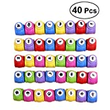ultnice 40pcs Craft Paper Punch Scrapbooking Card Hole Puncher Paper Shaper Cutter (zufällige Stile und Farben)