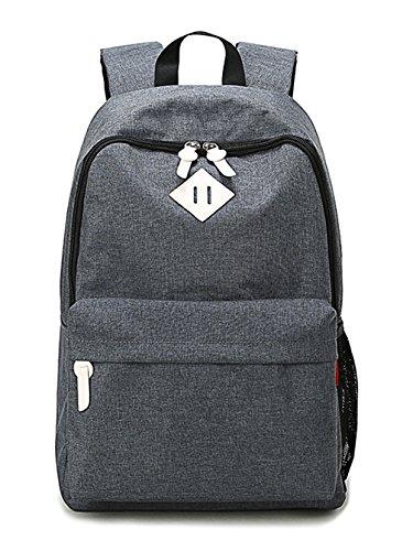 Keshi Leinwand Cool Damen accessories hohe Qualität Einfache Tasche Schultertasche Freizeitrucksack Tasche Rucksäcke Grau