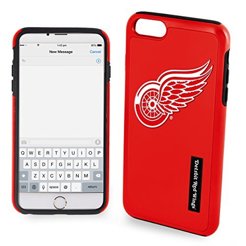 Forever NHL Detroit Red Wings iPhone 6 Plus Dual Hybrid Fall (2 Stück), rot