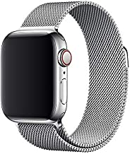 Compatible with Apple Watch Band 38mm 40mm 42mm 44mm, Adjustable Stainless Steel Metal Mesh Loop Bracelet Wris