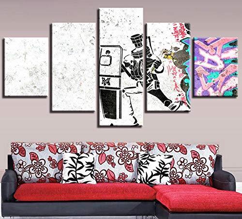 Wulian Malerei Modernes 5-Spiel Inkjet Held Liga Dekorative Malerei Innenministerium Wandbild Dunhuang7