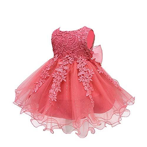 f838e144ca Bebé infantil niñas vestido de bautizo de cumpleaños bautismo vestido de  banquete de boda