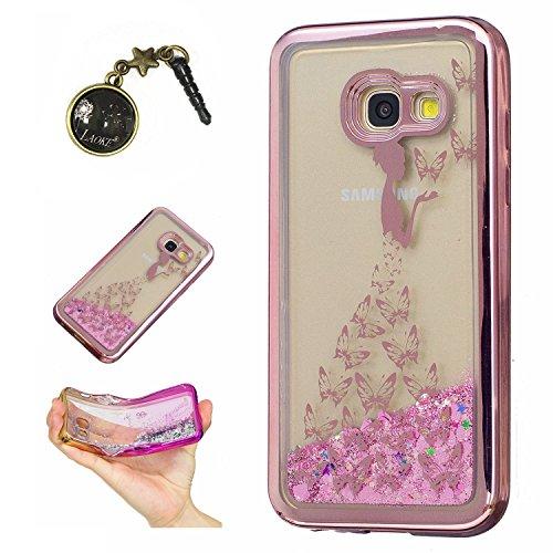 Preisvergleich Produktbild Laoke für Samsung Galaxy A3 (2017) Hülle Schutzhülle Handy TPU Silikon Hülle Case Cover Durchsichtig Gel Tasche Bumper ( + Stöpsel Staubschutz) (3)