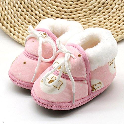 Krabbelschuhe, Switchali Neugeboren Baby Katzen Druck Stiefel Schnee Prewalker Winter Warme Schuhe Rosa