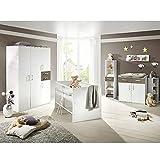 Babyzimmerset Sienna 8tlg. weiß matt lava Komplett Set mitwachsend Gitterbett