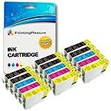 15 Druckerpatronen für Epson Stylus Photo R240, R245, RX400, RX420, RX425, RX430, RX450, RX520 | kompatibel zu Epson T0551, T0552, T0553, T0554 (T0555)