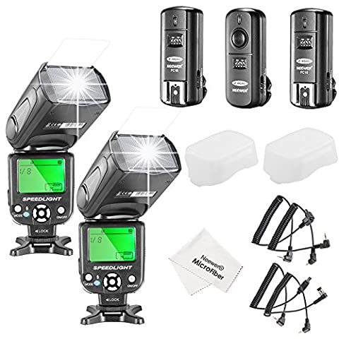 Neewer® NW-561 LCD Screen Flash Speedlite Kit for Canon Nikon
