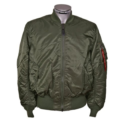 MA-1 Bomberjacke (Alpha Industries) (grün) (XL)
