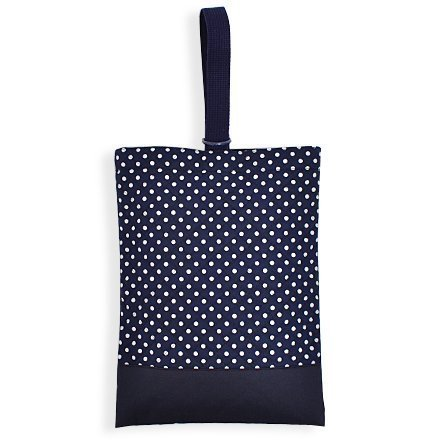 Kids shoes case of hand made sense (quilting) polka dots, dark blue, dark blue x Ox made in Japan N3230600 (japan import)