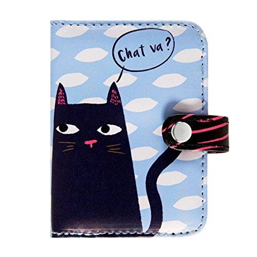 Porte-cartes FOLK Black Cat - Derrière la porte